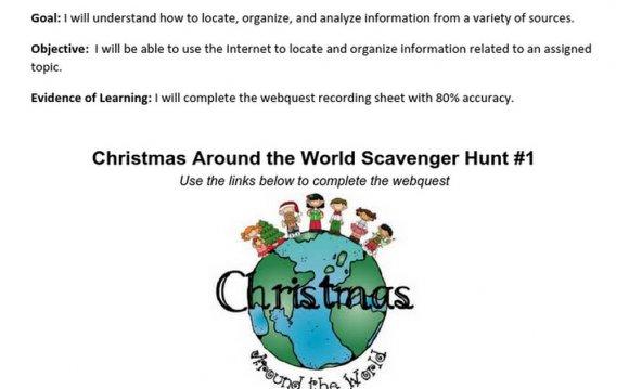 Christmas Webquest - Google