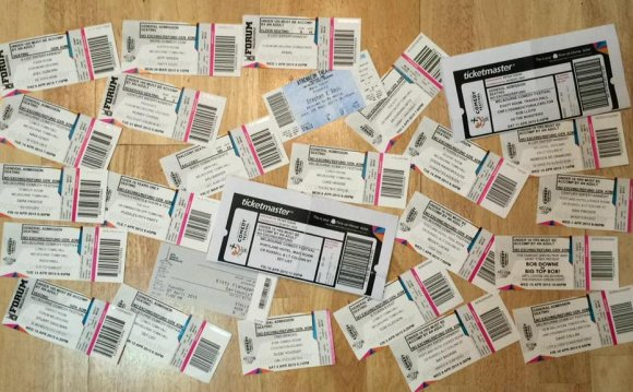 Tickets From Some Of The Shows
