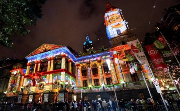 Melbourne Town Hall, Christmas